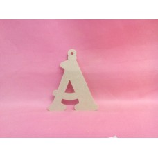 4mm MDF Letter with loop 120mm